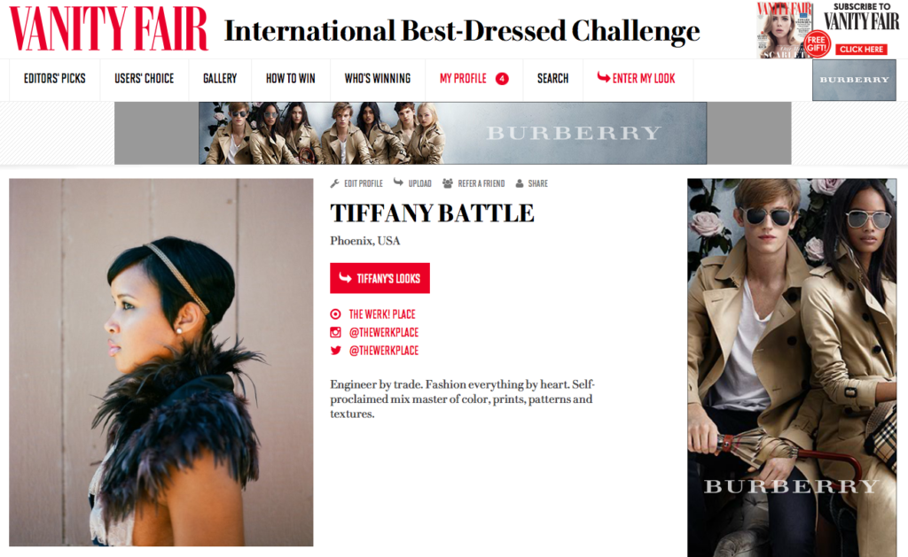 Vanity Fair: 2014 International Best Dressed List - Tiffany Battle
