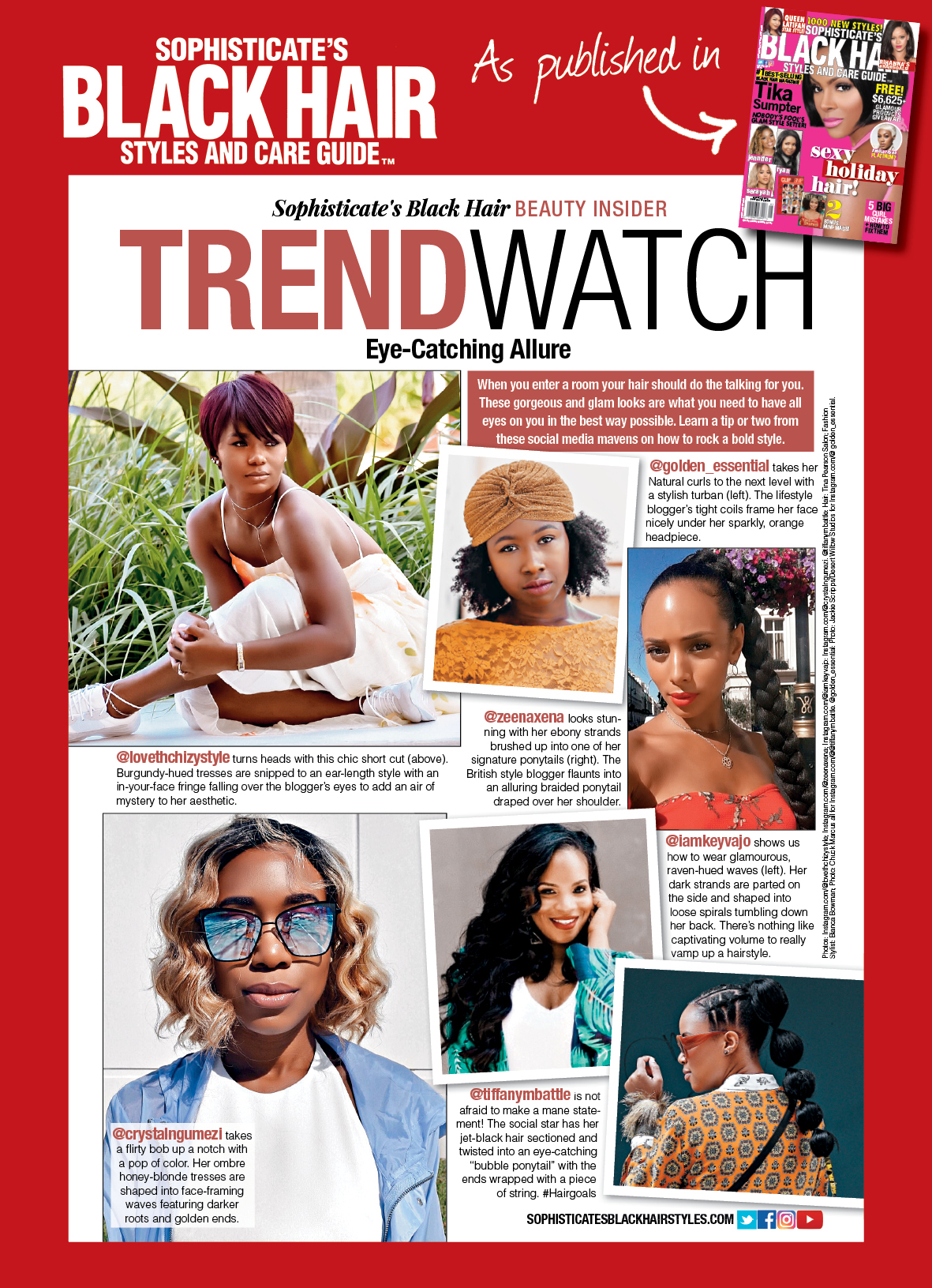 Sophisticate's Black Hair Magazine: Trend Watch