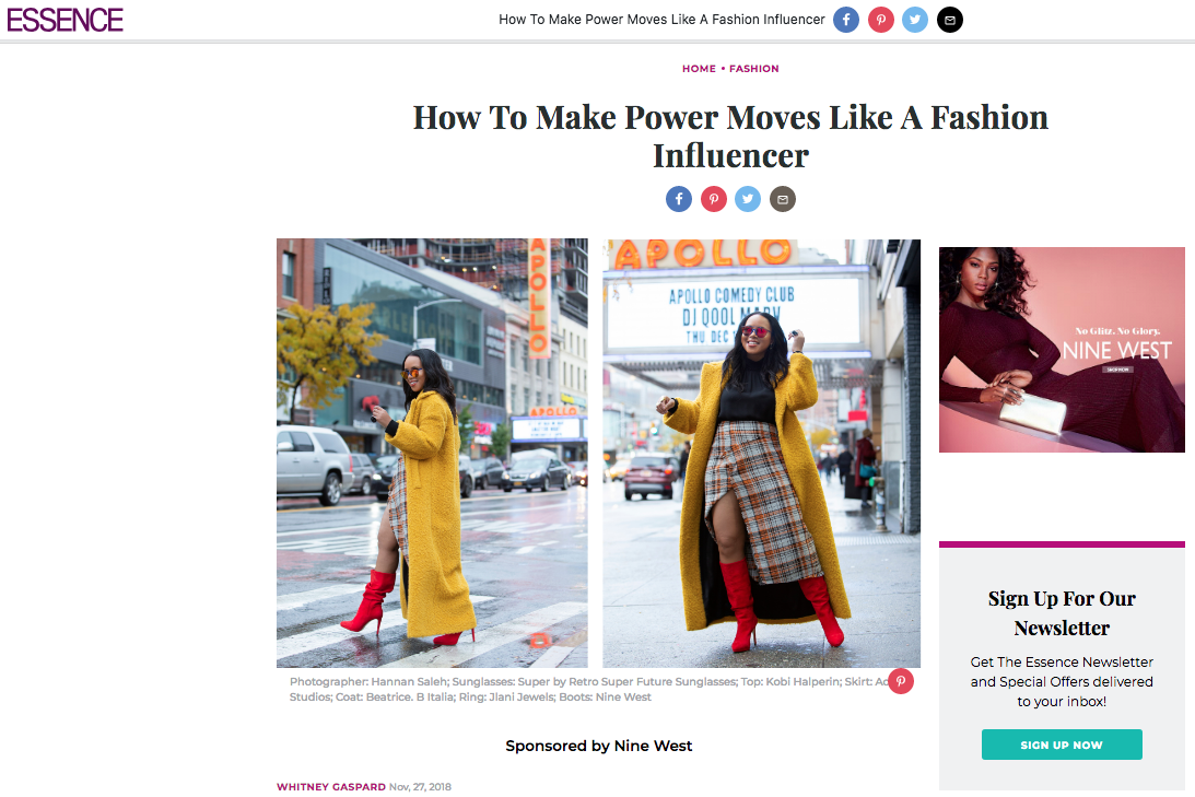 Essence Magazine: Power Moves Like a Fashion Influencer