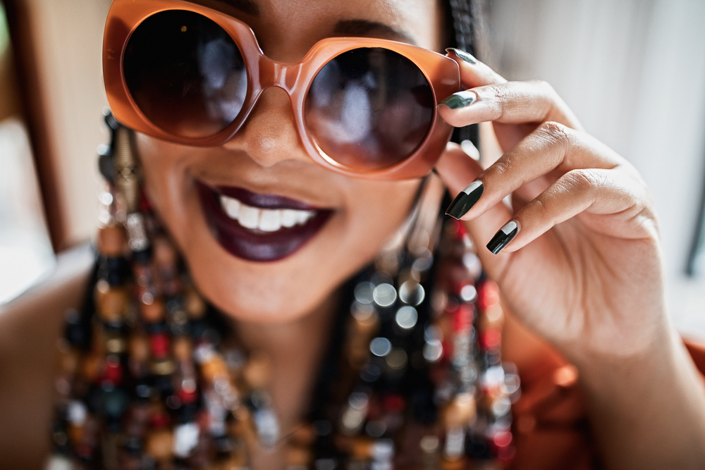 70s Inspired Beads With Braids and Zara Sunglasses